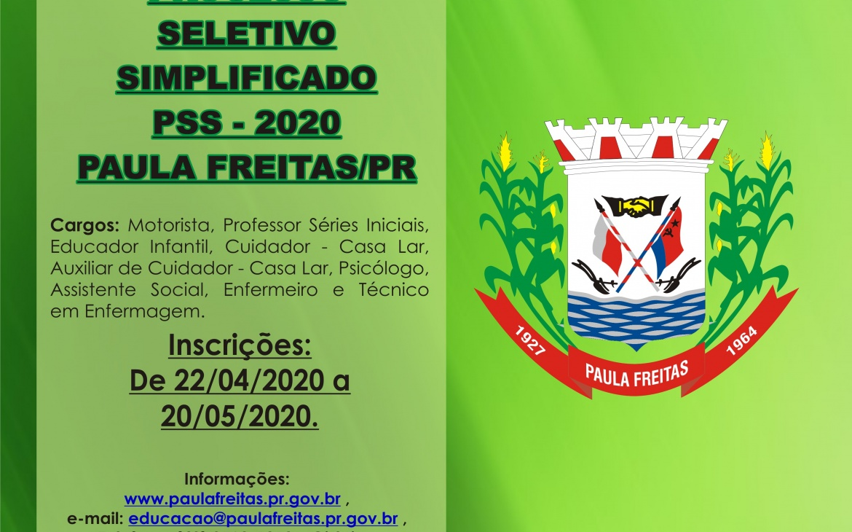EDITAL DE ABERTURA PSS 2020