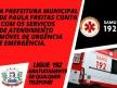 Implantação do atendimento SAMU em Paula Freitas